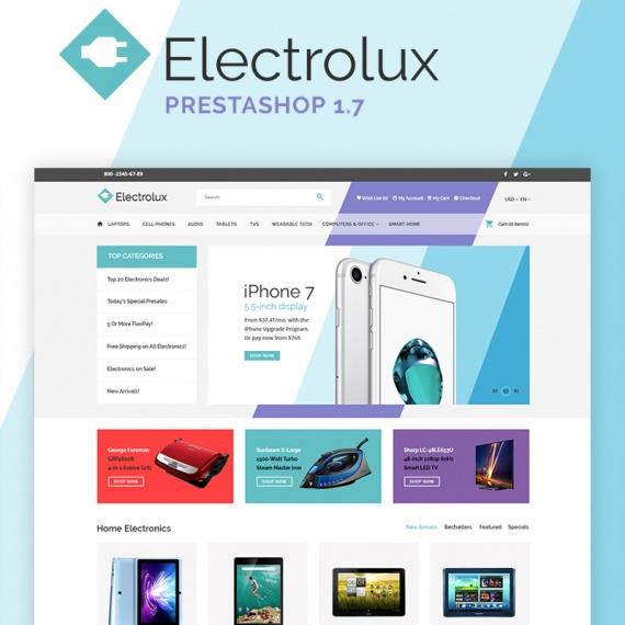 Electrolux - шаблон PrestaShop интернет-магазина осветительных приборов