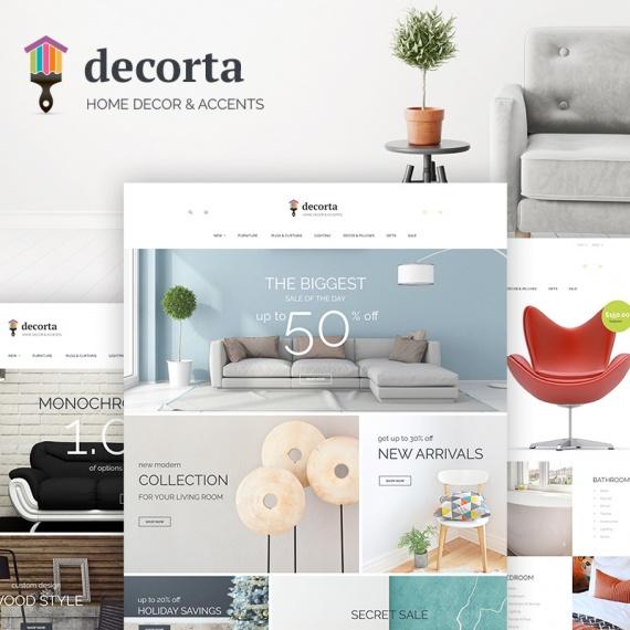 PrestaShop шаблон Decorta - интернет-магазин фурнитуры