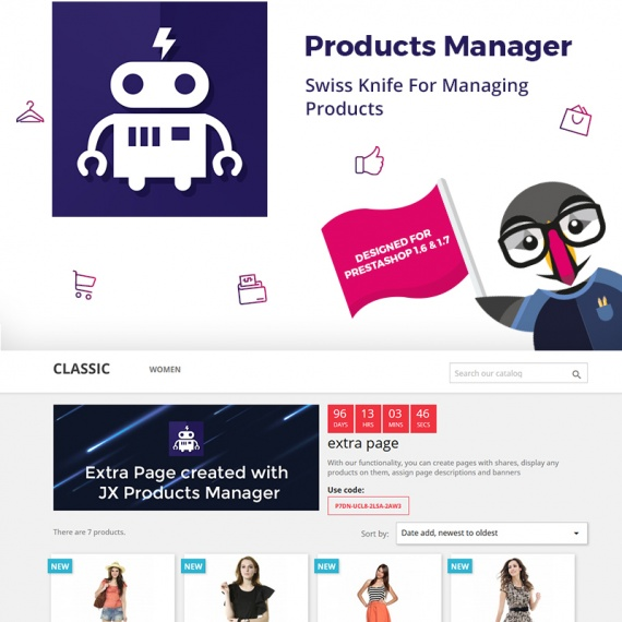 Модуль PrestaShop - Product Manager