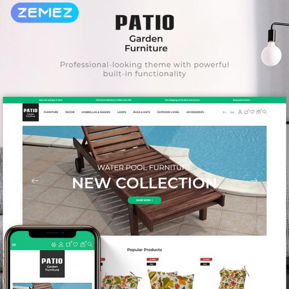 PrestaShop шаблон Patio-Garden Furniture Store Ecommerce Bootstrap Clean Theme