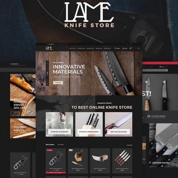PrestaShop шаблон LAME - Knife Store