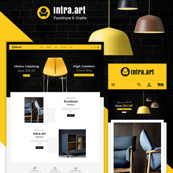 PrestaShop шаблон Intra - Furniture Art & Crafts