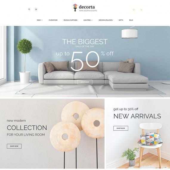 Decorta - шаблон PrestaShop магазина элементов декора