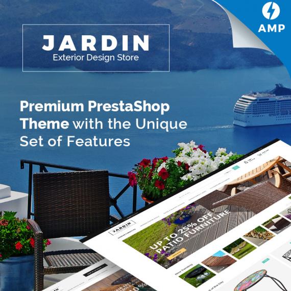 PrestaShop шаблон Jardin - Exterior Design Store